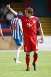 Aldershot striker Danny Hylton